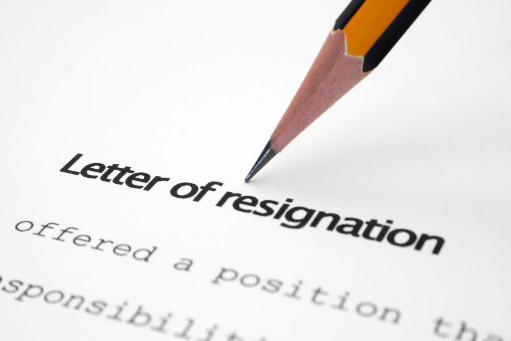 Letter of resignation